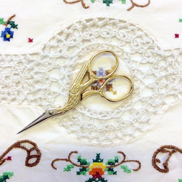 Gold Plated Stork Scissors
