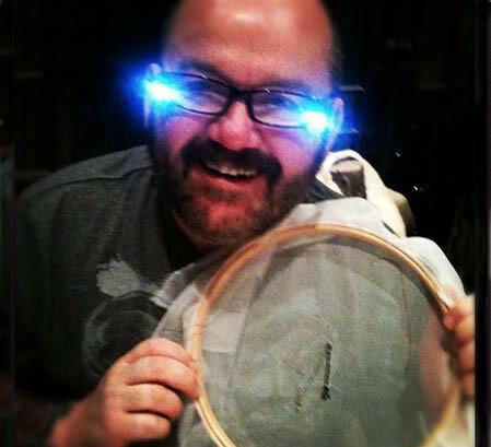 L.E.D Light Embroidery Glasses