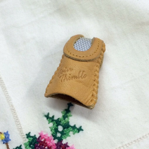 Leather Double Sided Coin Thimble