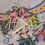 Long White Bugle Beads 02