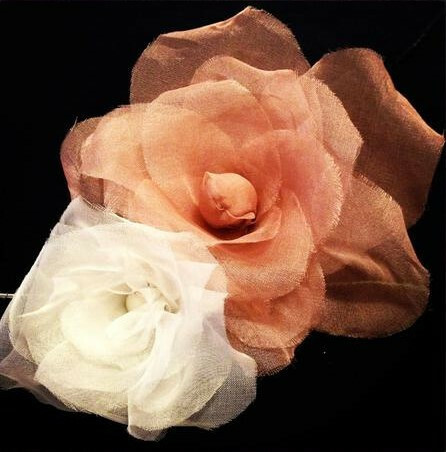 Silk flowers organdie rose class london embroidery school silk flowers mightylinksfo