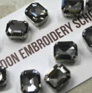 Get your hands on some glass crystals that are perfect for embroidery! London Embroidery School