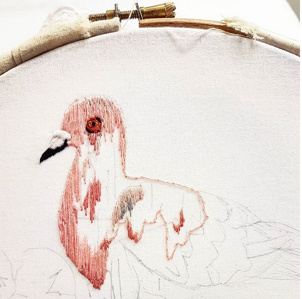 February at the London Embroidery London Embroidery School