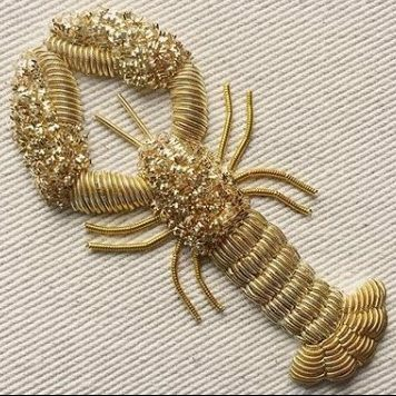 Goldwork Lobster course with Hattie McGill