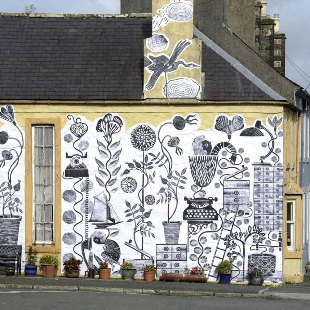 Astrid, house, artwork, illustration, print