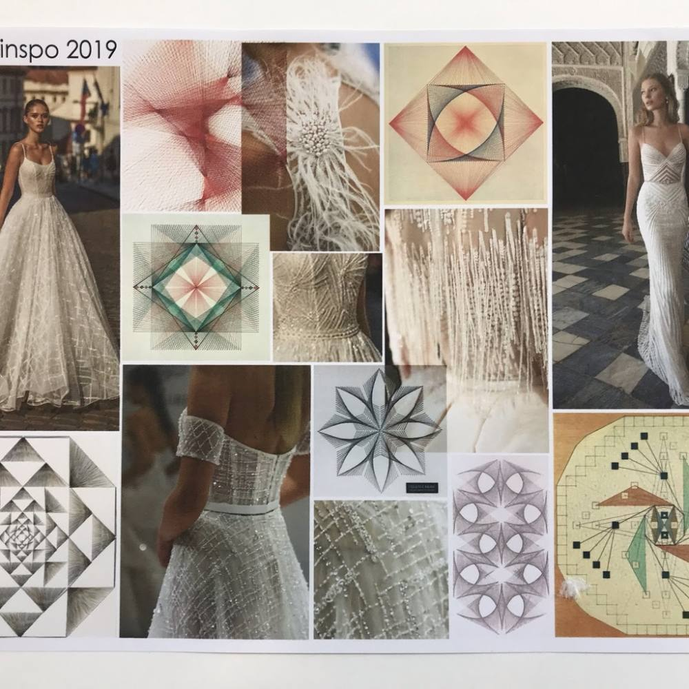 intern, internship, geometric, machine embroidery, embroidery stitch