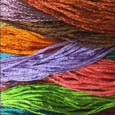 silk floss, silk, floss, thread, yarn, embroidery thread, coloured thread,
