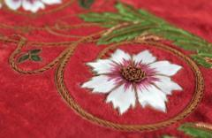 goldwork, gold work, flower, silk shading, silk, shading, rose,