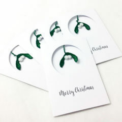Christmas, card, mistletoe, offering, chirstmas offering