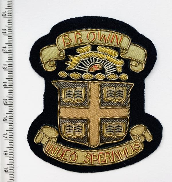 Brown University Blazer Badge, Gold Badge, Cap Badge,Blazer, badge, Cap, Cap Badge, Blazer Badge, Vintage badge, military, military badge, military button