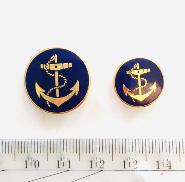 Button, Anchor Button, Gold Button, Military, Military Button, Military Badge, Vintage, Embellishments, Anchor, Navy Button, Blue Button, Navy Button
