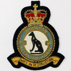 RAF 112 Squadron Blazer Badge, Gold Badge, Cap Badge,Blazer, badge, Cap, Cap Badge, Blazer Badge, Vintage badge, military, military badge, military button