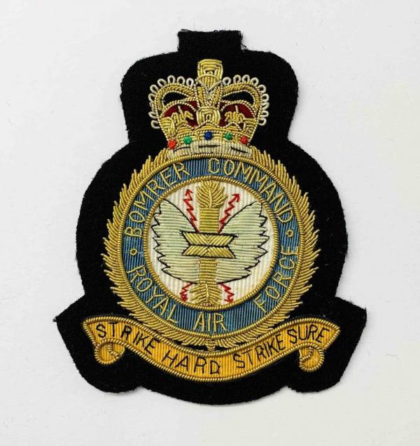 RAF Bomber Command Blazer Badge, Gold Badge, Cap Badge,Blazer, badge, Cap, Cap Badge, Blazer Badge, Vintage badge, military, military badge, military button