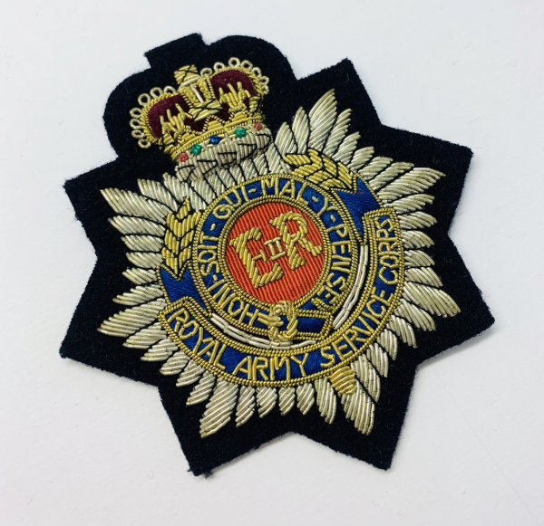 Royal Army Service Corps Blazer Badge, Gold Badge, Cap Badge,Blazer, badge, Cap, Cap Badge, Blazer Badge, Vintage badge, military, military badge, military button