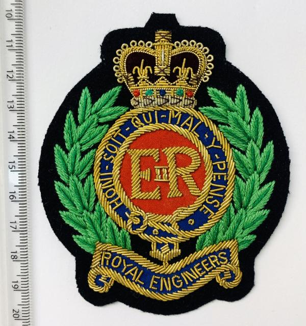 Royal Engineers Blazer Badge, Gold Badge, Cap Badge,Blazer, badge, Cap, Cap Badge, Blazer Badge, Vintage badge, military, military badge, military button