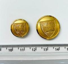 Oxford University button, button, gold button, military button, military, gold, label, embellishment, accessory