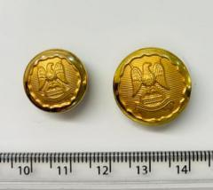 Royal Scots Dragoon Guards Button, button, gold button, military button, military, gold, label, embellishment, accessory
