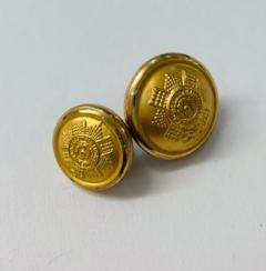 Scots Guard Button, button, gold button, military button, military, gold, label, embellishment, accessory