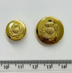 Thistle Button, button, gold button, military button, military, gold, label, embellishment, accessory