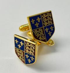 Tudor Royal Coat of Arms Cufflinks, cufflinks, cufflinks, suit, gold cufflinks, Pin Badge, Button, Badge, Pin, Gold pin, Gold Button, Brooch, accessory
