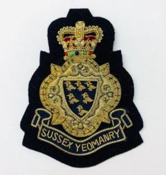 Sussex Yeomanry Blazer Badge Blazer Badge, Gold Badge, Cap Badge,Blazer, badge, Cap, Cap Badge, Blazer Badge, Vintage badge, military, military badge, military button