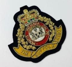 The Suffolk Regiment Blazer Badge Blazer Badge, Gold Badge, Cap Badge,Blazer, badge, Cap, Cap Badge, Blazer Badge, Vintage badge, military, military badge, military button