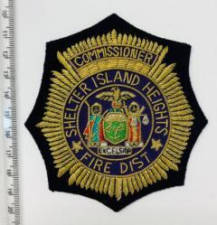 Shelter Island Heights Fire District Blazer Badge Blazer Badge, Gold Badge, Cap Badge,Blazer, badge, Cap, Cap Badge, Blazer Badge, Vintage badge, military, military badge, military button