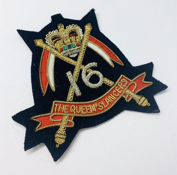 16th Queens Lancers Blazer Badge, Gold Badge, Cap Badge,Blazer, badge, Cap, Cap Badge, Blazer Badge, Vintage badge, military, military badge, military button