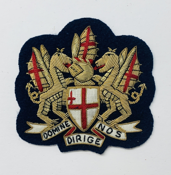 City of London Blazer Badge, Gold Badge, Cap Badge,Blazer, badge, Cap, Cap Badge, Blazer Badge, Vintage badge, military, military badge, military button