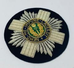 Scots Guards Blazer Badge, Gold Badge, Cap Badge,Blazer, badge, Cap, Cap Badge, Blazer Badge, Vintage badge, military, military badge, military button