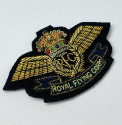 Royal Flying Corps Cap Badge, Cap, Gold, Gold Badge, Cap Badge,Blazer, badge, Cap, Cap Badge, Blazer Badge, Vintage badge, military, military badge, military button