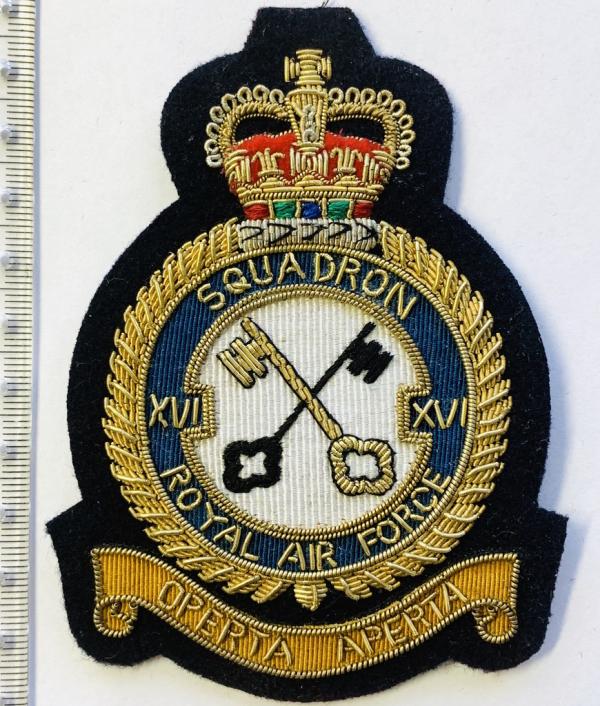16th Squadron Blazer badge, badge, Cap, Cap Badge, Blazer Badge, Vintage badge, military, military badge, military button