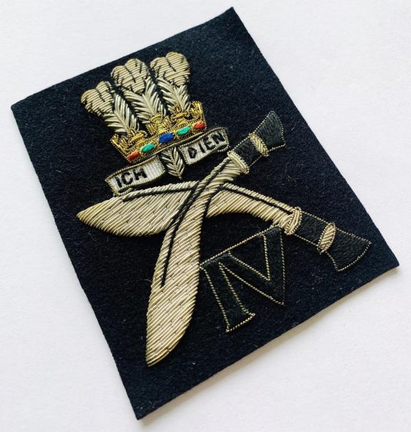 4th POW Gurkha Rifle Blazer Badge, Blazer, badge, Cap, Cap Badge, Blazer Badge, Vintage badge, military, military badge, military button