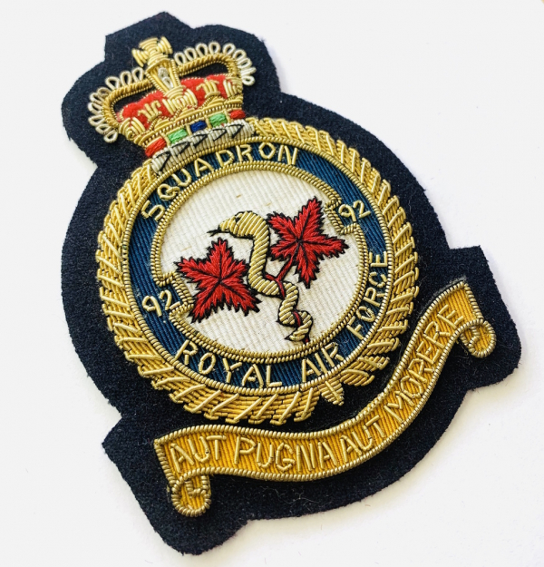 92nd Squadron Blazer badge, badge, Cap, Cap Badge, Blazer Badge, Vintage badge, military, military badge, military button