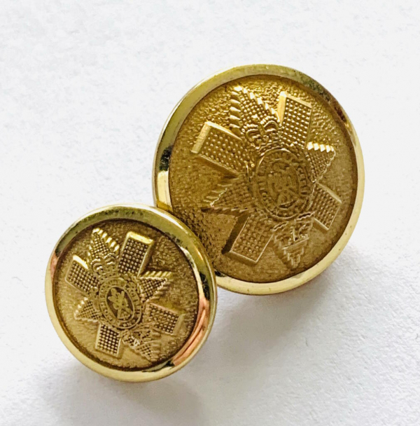 Button, Black Watch Buttons, Gold Button, Military, Military Button, Military Badge, Vintage, Embellishments, Accessories