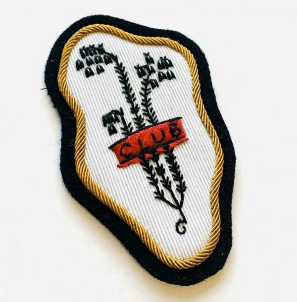Bluebell Club blazer badge, badge, Blazer Badge, Vintage badge, military, military badge, military button