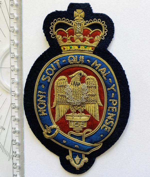 Blues & Royals Blaze Badge, Gold Badge, Cap Badge,Blazer, badge, Cap, Cap Badge, Blazer Badge, Vintage badge, military, military badge, military button