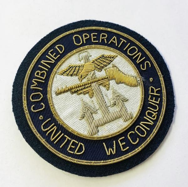 Combined Operations Blazer badge, badge, Cap, Cap Badge, Blazer Badge, Vintage badge, military, military badge, military button