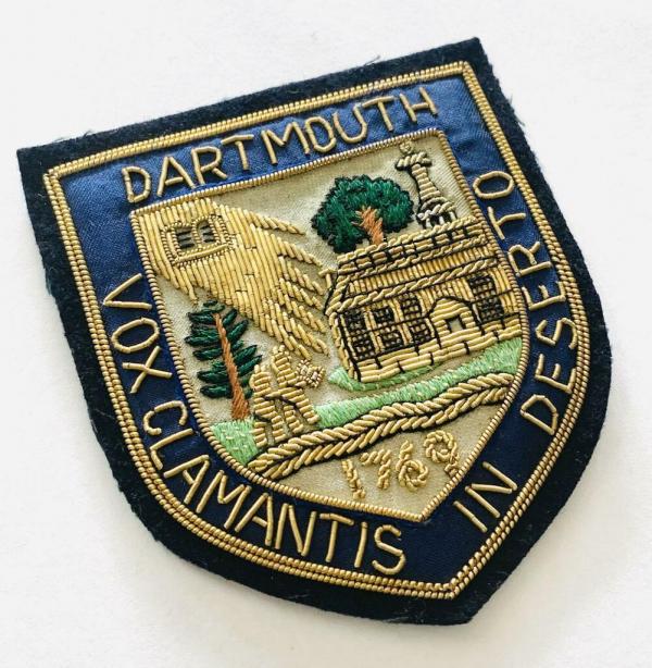 Dartmouth University blazer badge, badge, Blazer Badge, Vintage badge, military, military badge, military button