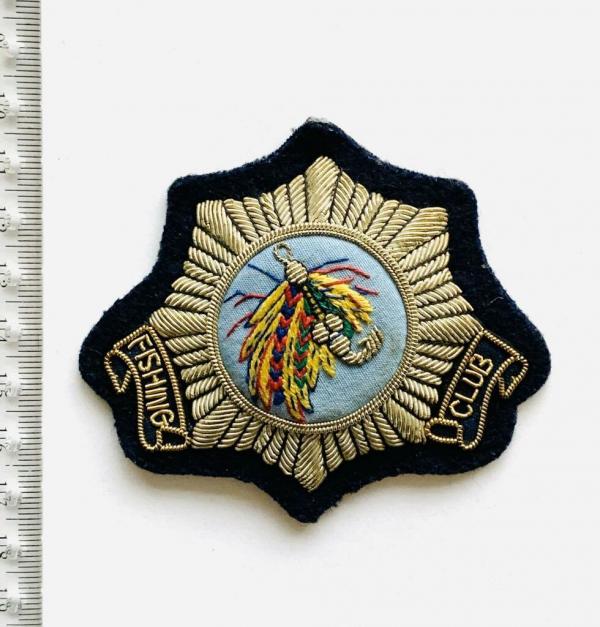 fishing club blazer badge, badge, Blazer Badge, Vintage badge, military, military badge, military button