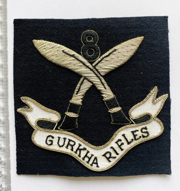 Gurkha Rifle Blazer Badge, Blazer, badge, Cap, Cap Badge, Blazer Badge, Vintage badge, military, military badge, military button