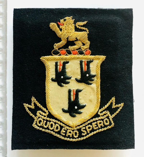 Highgate School Cholmeleian blazer badge, badge, Blazer Badge, Vintage badge, military, military badge, military button