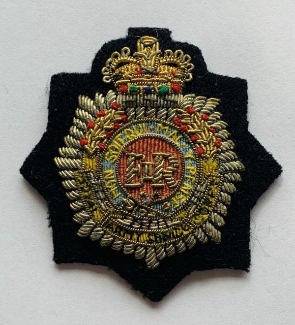 Royal Army Service Corps Cap Badge, Cap, Gold, Gold Badge, Cap Badge,Blazer, badge, Cap, Cap Badge, Blazer Badge, Vintage badge, military, military badge, military button
