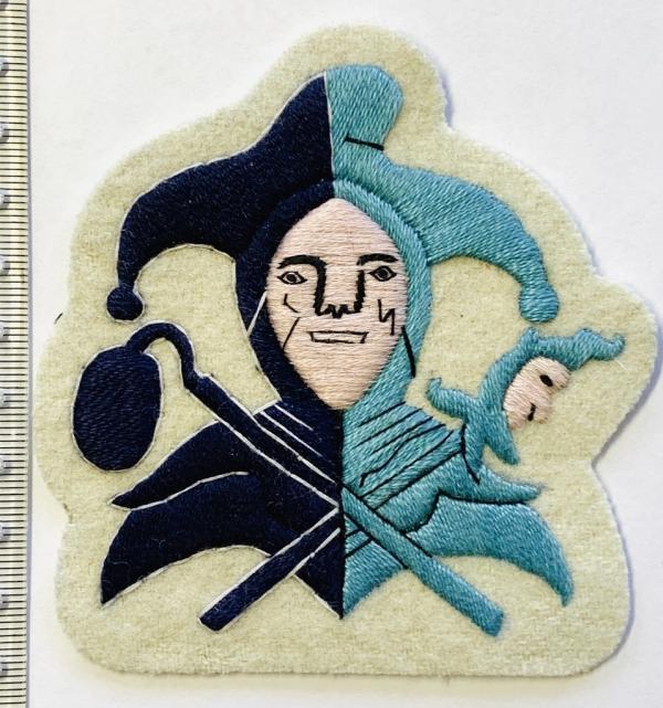 Jester Blazer badge, Pink Face, Jester, badge, Cap, Cap Badge, Blazer Badge, Vintage badge, military, military badge, military button