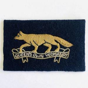 Queen's Own Yeomanry Cap Badge, blue badge, badge, Cap, Cap Badge, Blazer Badge, Vintage badge, military, military badge, military button