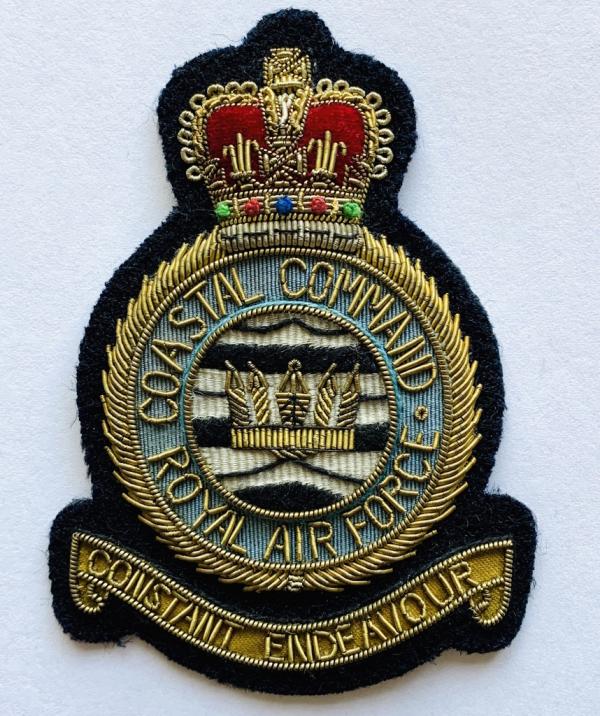 RAF Coastal Command Blazer Badge, Blazer, Blazer Badge, Cap Badge,Blazer, badge, Cap, Cap Badge, Blazer Badge, Vintage badge, military, military badge, military button