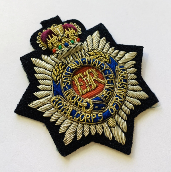 Royal Corps of Transport Blazer Badge, Gold Badge, Cap Badge,Blazer, badge, Cap, Cap Badge, Blazer Badge, Vintage badge, military, military badge, military button