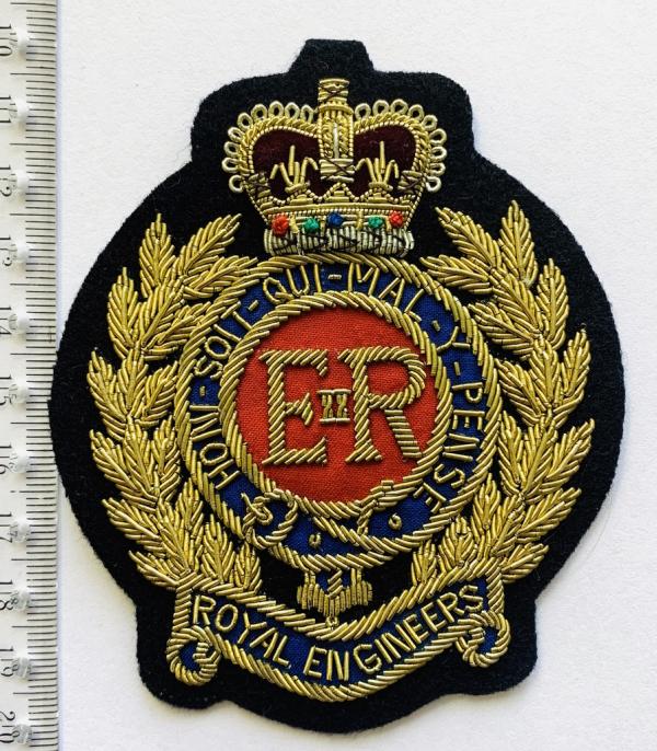 Royal Engineer Blazer Badge, Gold, Gold Badge, Cap Badge,Blazer, badge, Cap, Cap Badge, Blazer Badge, Vintage badge, military, military badge, military button