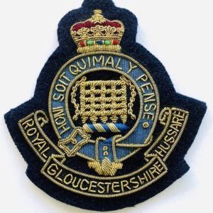 Royal Gloucestershire HussarsBlazer badge, badge, Cap, Cap Badge, Blazer Badge, Vintage badge, military, military badge, military button