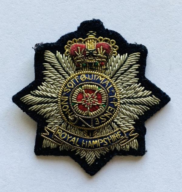 Royal Hampshire Regiment Cap Badge, Cap, Cap Badge,Blazer, badge, Cap, Cap Badge, Blazer Badge, Vintage badge, military, military badge, military button